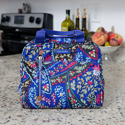 VERA BRADLEY<sup>&reg;</sup> Lighten Up Lunch Cooler - Dine in style and keep your meal cool with this stylish lunch cooler.  Bag measures 9