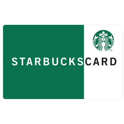 STARBUCKS<sup>&reg;</sup> $25 Gift Card - Treat yourself to hot or cold drinks, snacks, gifts and more!